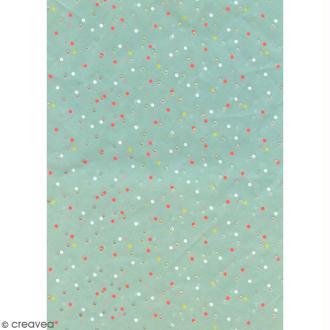 Papier Paper Patch - Pois irisés et fluo - 30 x 40 cm