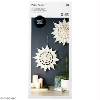 Kit étoile sacs en papier - Paper poetry - Blanc