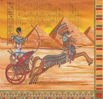 4 Serviettes en papier Egypte Horus Cléopatre Toutankhamon Format Lunch
