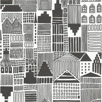 4 Serviettes en papier Design Marimekko Graphisme Onnea Etsimässä Format Lunch
