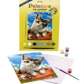 Peinture au numéro - Le chat tigré