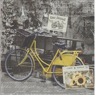 4 Serviettes en papier Amsterdam Vélo Format Lunch