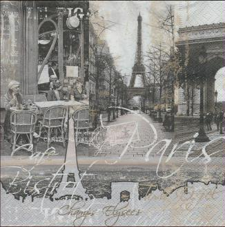 4 Serviettes en papier Paris Tour Eiffel Format Lunch