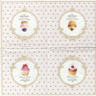4 Serviettes en papier Pâtisserie Format Lunch