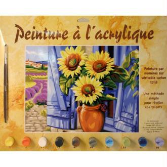 Peinture numero adulte - Soleil de Provence