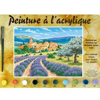 Peinture numero adulte - Lavande en Provence