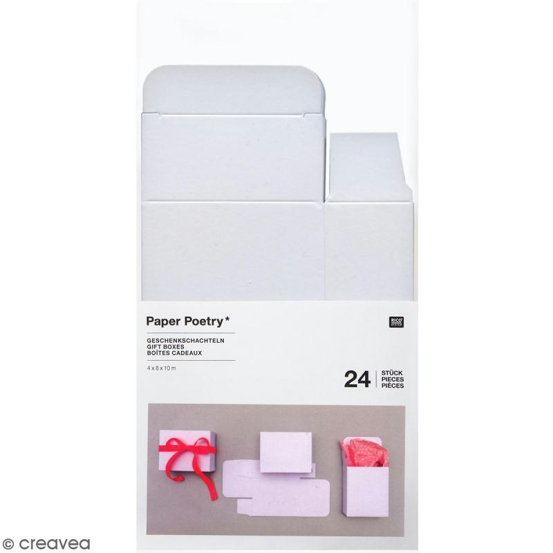 bo tes cadeau calendrier de l 39 avent paper poetry blanches 24 pcs calendrier de l 39 avent. Black Bedroom Furniture Sets. Home Design Ideas