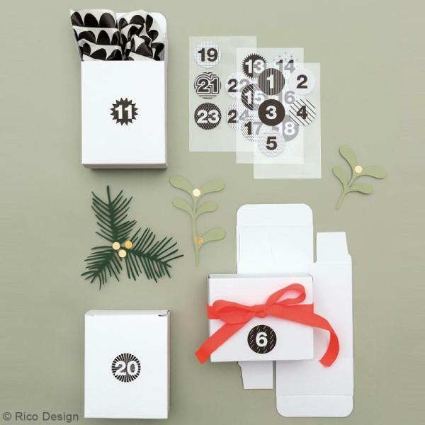 Boîtes cadeau Calendrier de l'Avent - Paper Poetry - Blanches - 24 pcs - Photo n°2