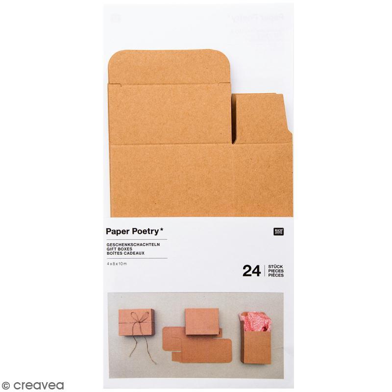 bo tes cadeau calendrier de l 39 avent paper poetry kraft 24 pcs calendrier de l 39 avent. Black Bedroom Furniture Sets. Home Design Ideas