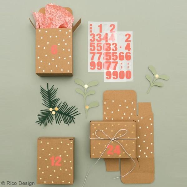Boite Calendrier De Lavent.Boites Cadeau Calendrier De L Avent Paper Poetry Kraft A Motifs Etoiles Dorees 24 Pcs