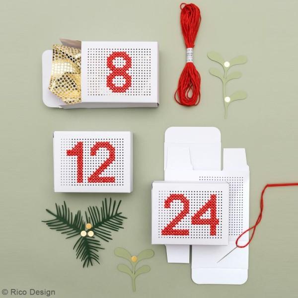 Boîtes cadeau Calendrier de l'Avent à broder - Paper Poetry - Blanches - 24 pcs - Photo n°2
