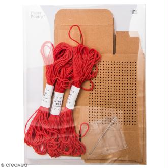 Kit 3 Boîtes cadeau à broder - Paper Poetry - Kraft