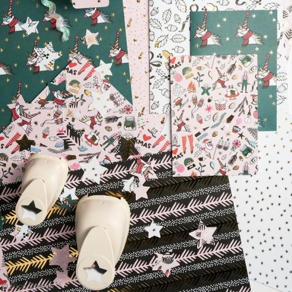 Bloc papier - Noël magique - 21 x 29,5 cm - 30 feuilles - Photo n°2