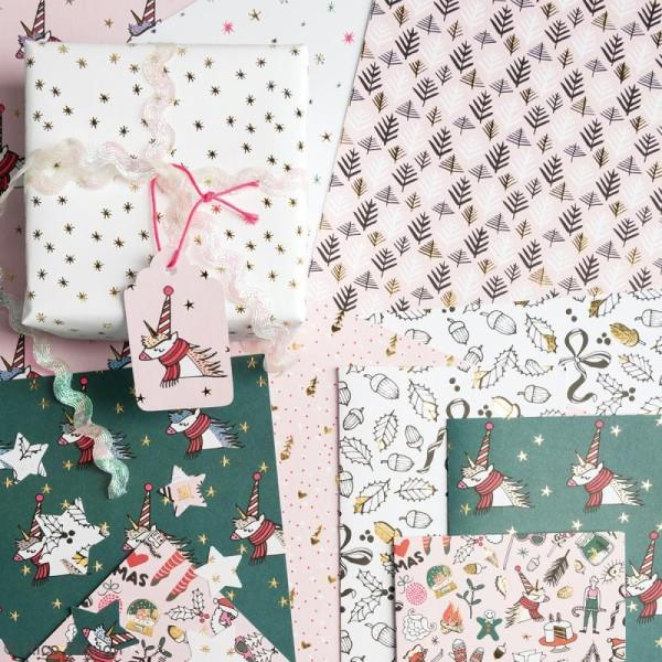 Bloc papier - Noël magique - 21 x 29,5 cm - 30 feuilles - Photo n°3