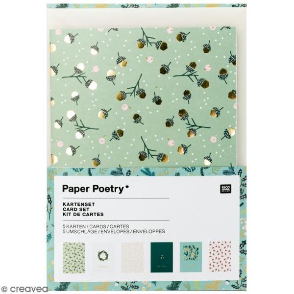 Kit cartes et enveloppes - Noël classique - A6 - 6 pcs - Photo n°1
