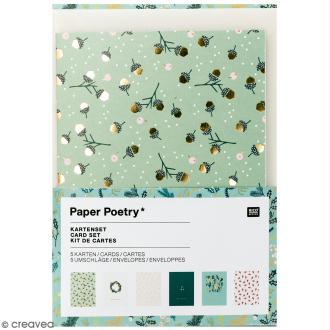 Kit cartes et enveloppes - Noël classique - A6 - 6 pcs