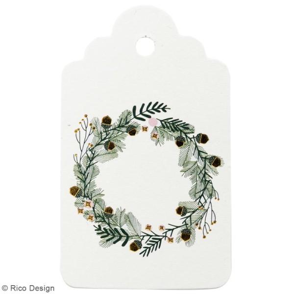 Etiquettes cadeaux - Noël classique - 5 à 7,5 cm - 30 pcs - Photo n°2