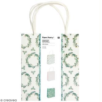 Lot de sacs en papier - Noël classique - 18 x 21 cm - 3 pcs