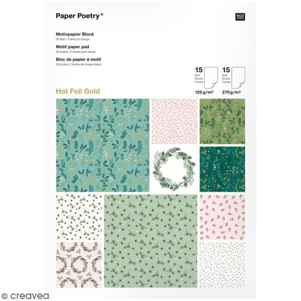 Bloc papier - Noël classique - 21 x 29,5 cm - 30 feuilles - Photo n°1
