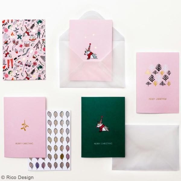Kit cartes et enveloppes - Noël magique - A6 - 6 pcs - Photo n°2