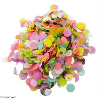 Petits confettis ronds Néon - Multicolore