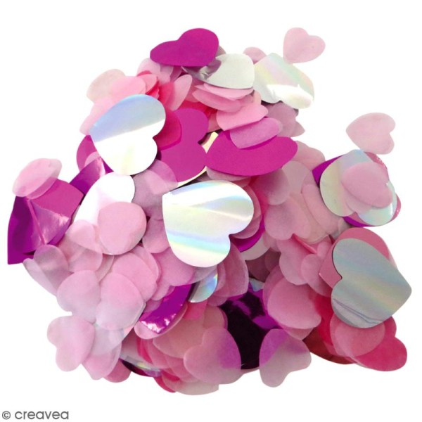 Confettis Coeurs - Rose - Photo n°1