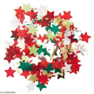 Confettis Etoiles - Vert, rouge et Blanc
