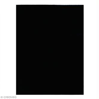 Feutrine fine 1,5 mm - 24 x 30 cm - Noir