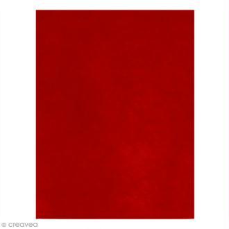 Feutrine épaisse 2 mm - 24 x 30 cm - Rouge