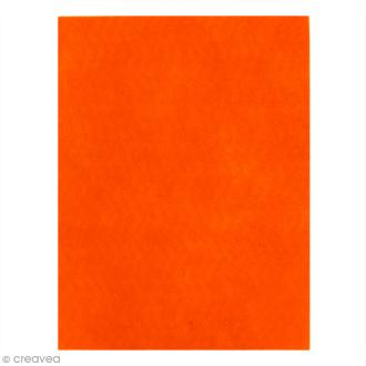 Feutrine épaisse 2 mm - 24 x 30 cm - Orange