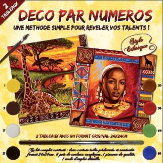 Peinture numérotée - Souvenirs d'Afrique