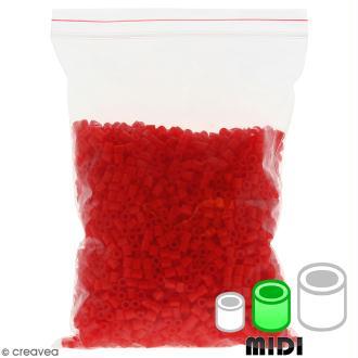 Perles à repasser Creavea - Rouge - Diam. 5 mm - 200 g (environ 4000 pcs)