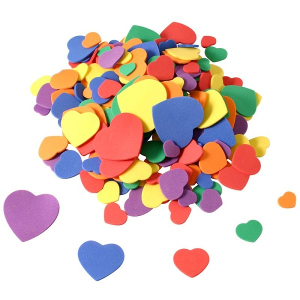 Coeurs en Feuille de mousse x 200 - Photo n°1