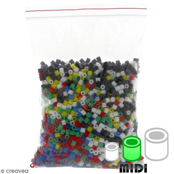 Assortiment de perles à repasser Creavea - 7 couleurs - Diam. 5 mm - 200 g (environ 4000 pcs) - Photo n°1