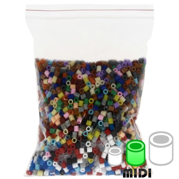 Assortiment de perles à repasser Creavea - 20 couleurs - Diam. 5 mm - 200 g (environ 4000 pcs) - Photo n°1