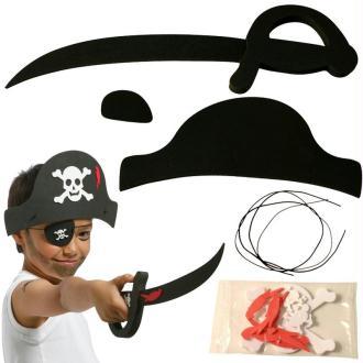 Déguisement Pirate en Feuille de mousse