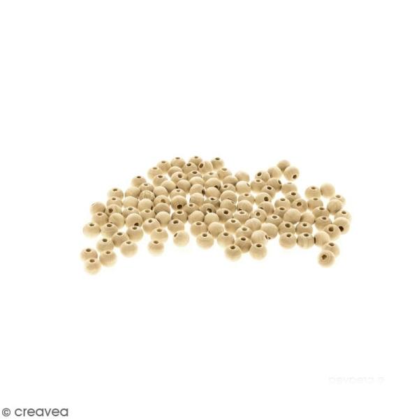 Perles rondes en bois - 5 mm - 250 pcs - Photo n°1