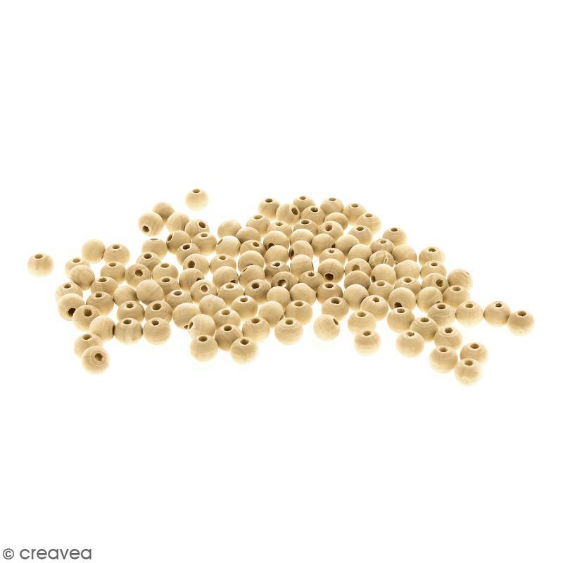 Perles rondes en bois - 8 mm - 200 pcs - Photo n°1