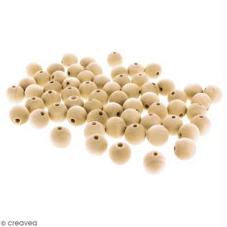 Perles rondes en bois - 20 mm - 80 pcs