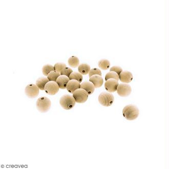 Perles rondes en bois - 25 mm - 25 pcs