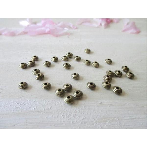 20 perles en métal Stardust Argentées 6mm Neuf