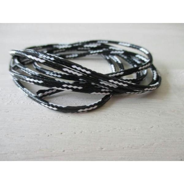 Lot de 1 m de fil nylon polyester noir et blanc - Photo n°1