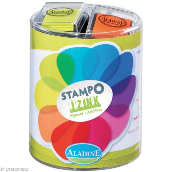 Kit 10 encreurs Stampo'colors vitamine - Photo n°1