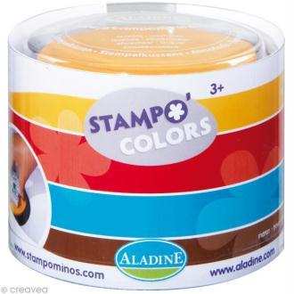 Encreur géant Stampo Colors Arlequin x 4 - encre ultra lavable