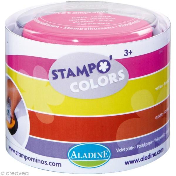 Encreur géant Stampo Colors Festival x 4 - encre ultra lavable - Photo n°1