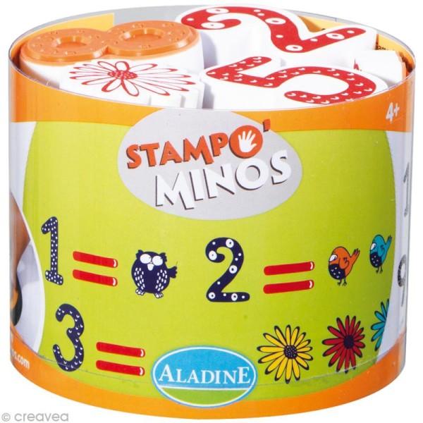 Kit 18 tampons enfant Stampo'minos Chiffres - Photo n°1