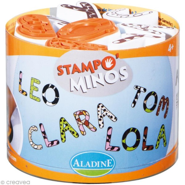 Kit 26 tampons enfant Stampo'minos Alphabets - Photo n°1