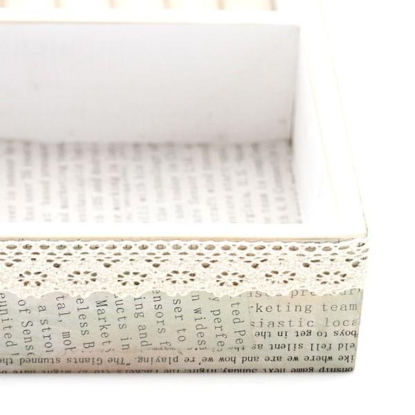 Boîte à bijoux coffret en bois bagues colliers bracelets Naturel - Photo n°3