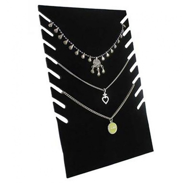 Porte bijoux presentoir collier plaque pour stand h 28 cm (8 colliers) Noir - Photo n°1