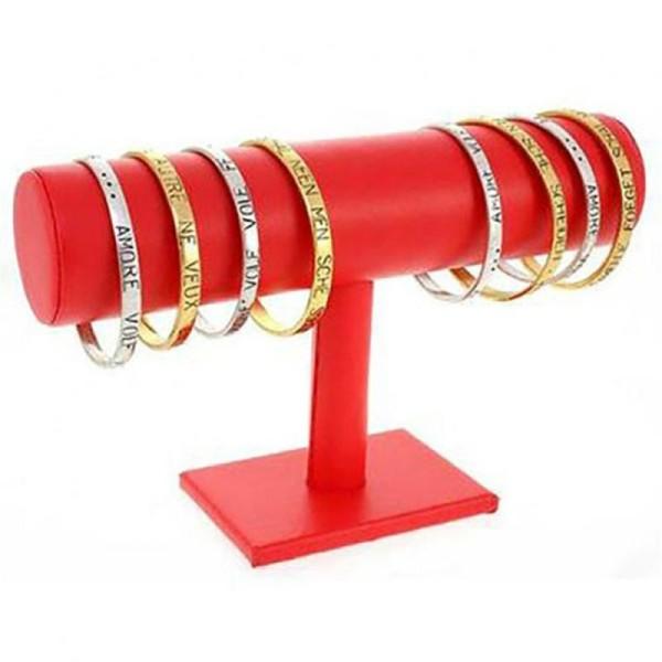 Pr/ésentoirs pour Bijoux Porte Bijoux Support Bracelet Montres jonc en Simili Cuir /à 1 Rang